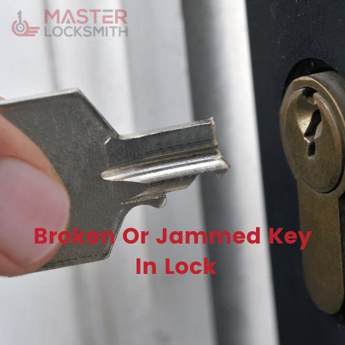 Broken Or Jammed Key In Lock