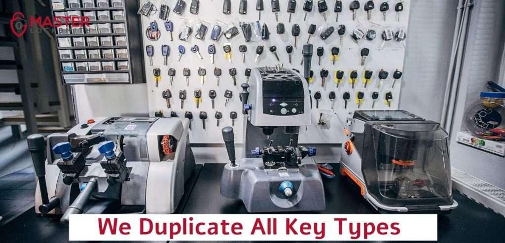 We Duplicate All Key Types- Master Locksmith