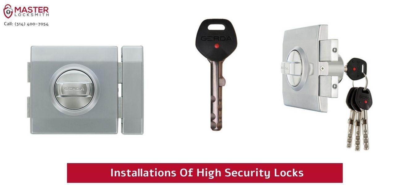 Installations Of High Security Locks- Master Locksmith